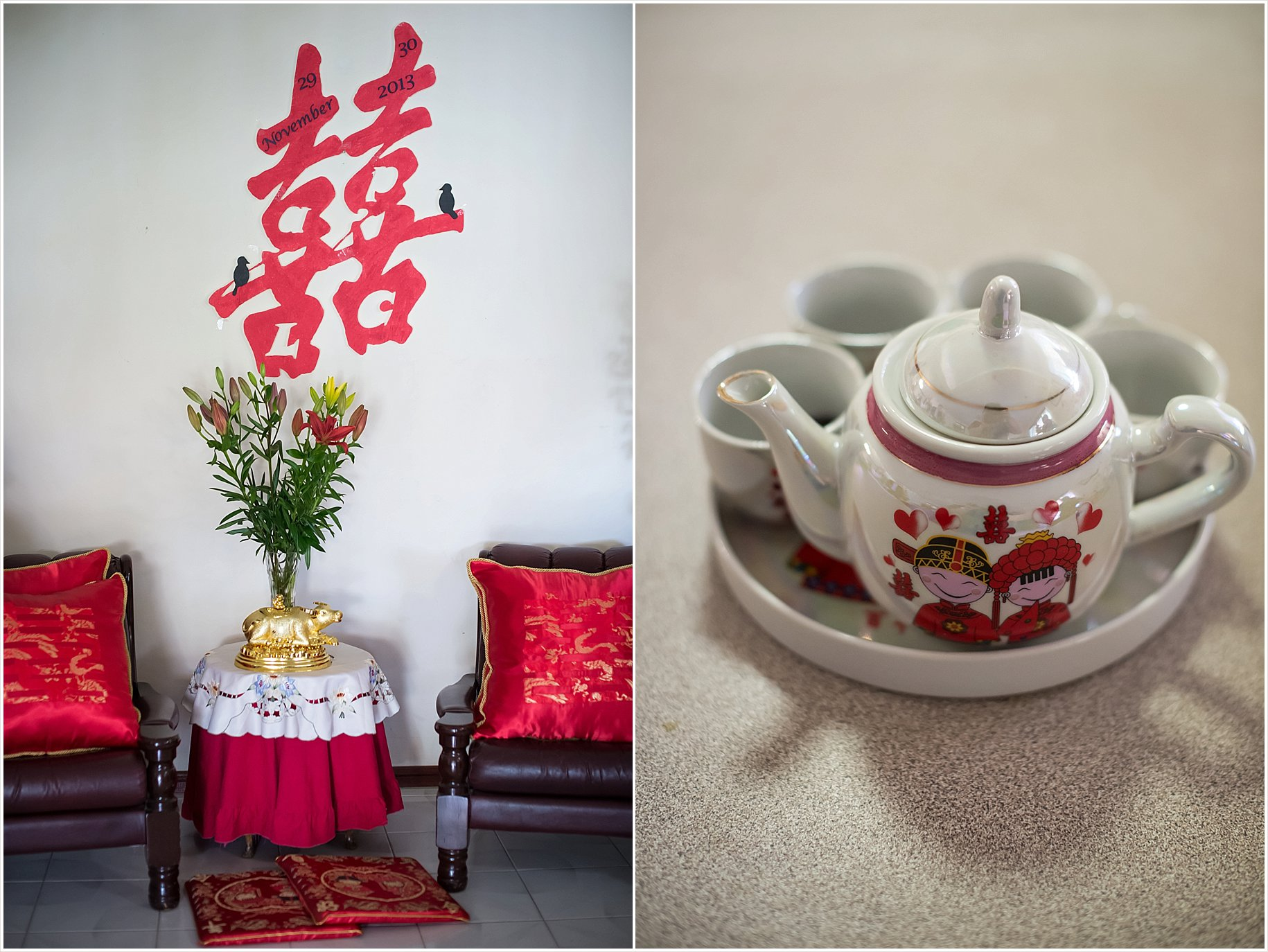 Chinese tea ceremony double happiness wedding photos