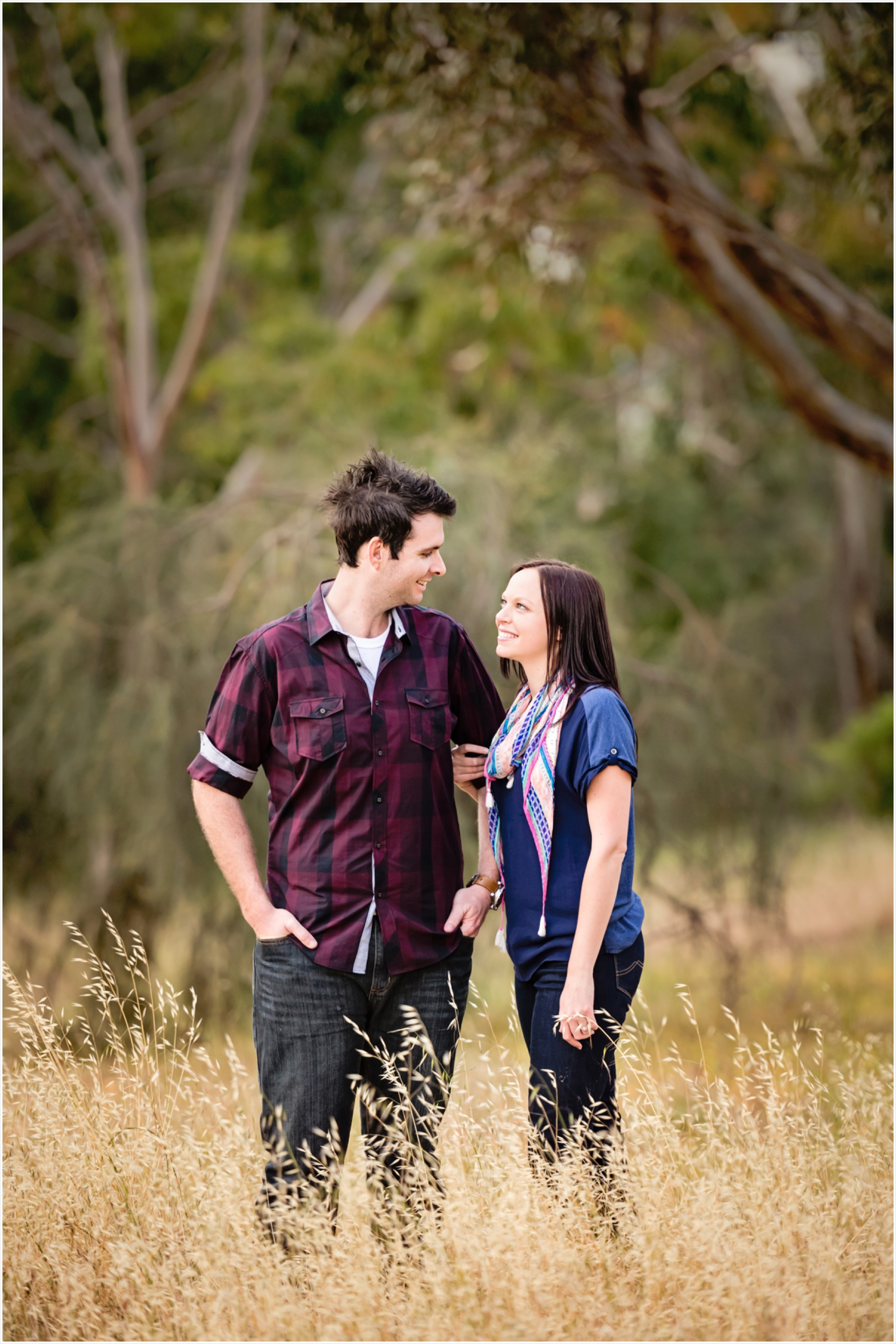 rustic engagement couple photos