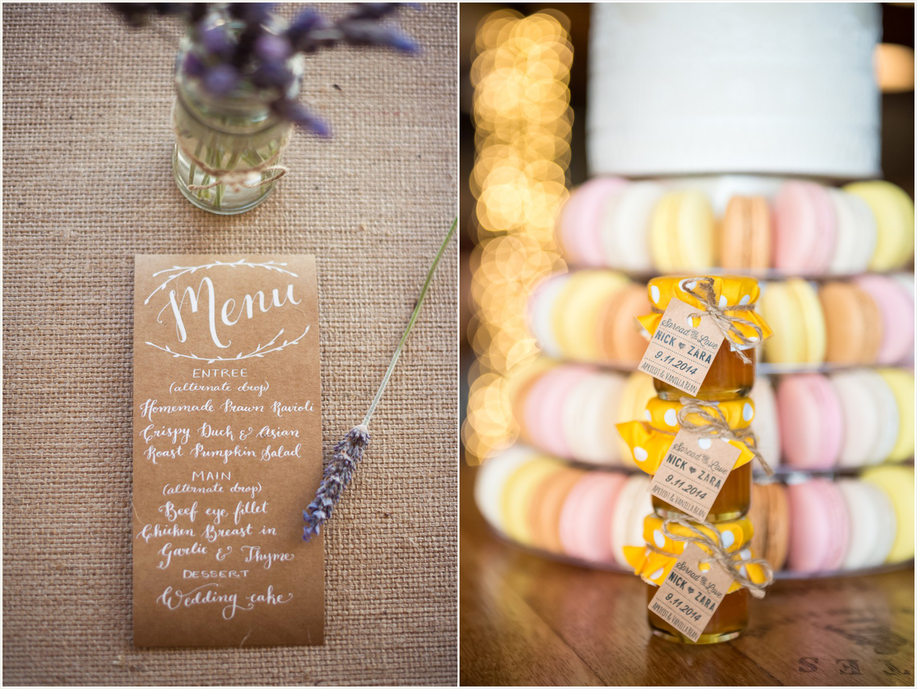 Rustic unique wedding details