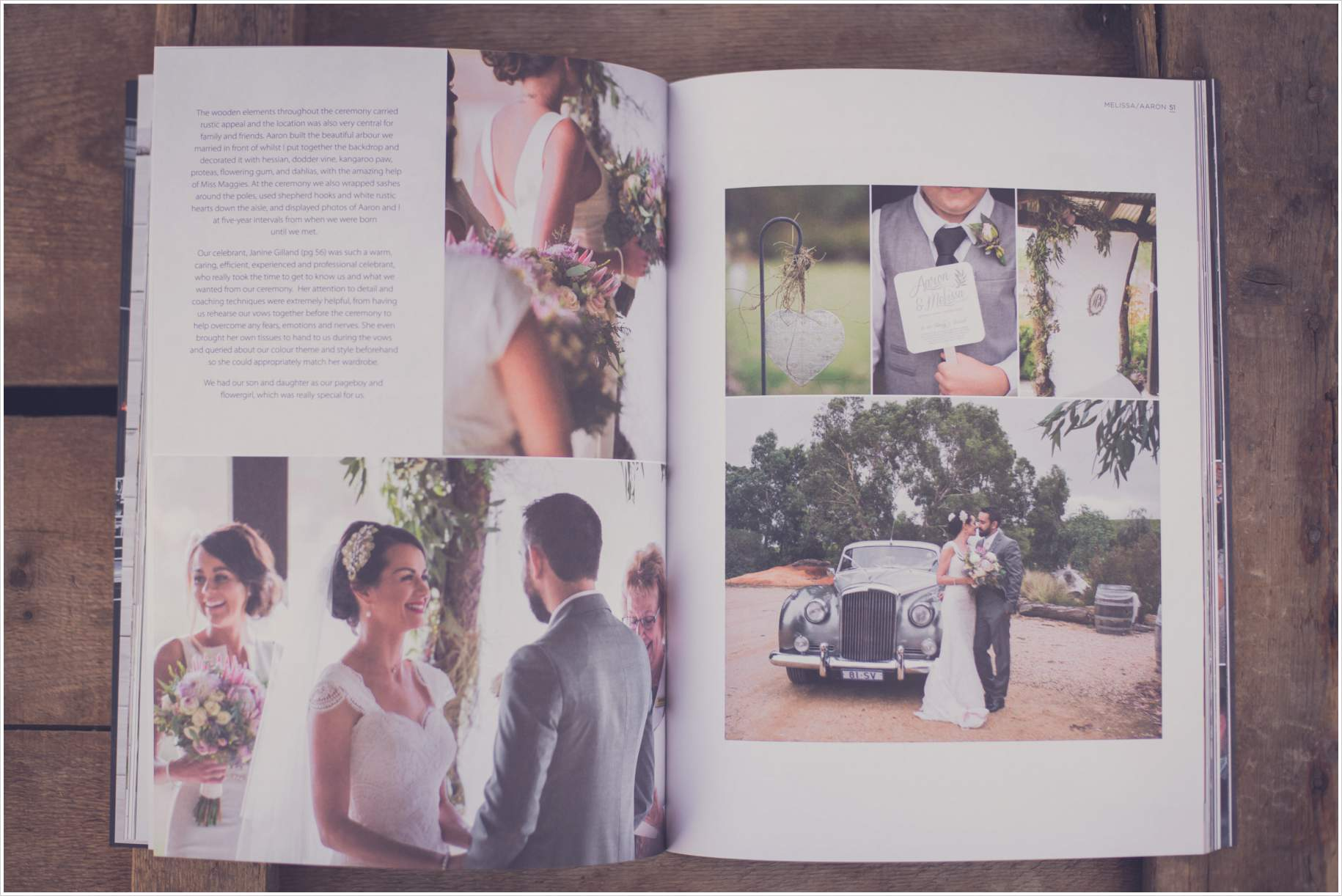 barossa bride real wedding magazine feature