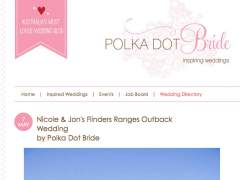 Nicole + Jon's Flinders Ranges Outback wedding featured on Polka Dot Brides