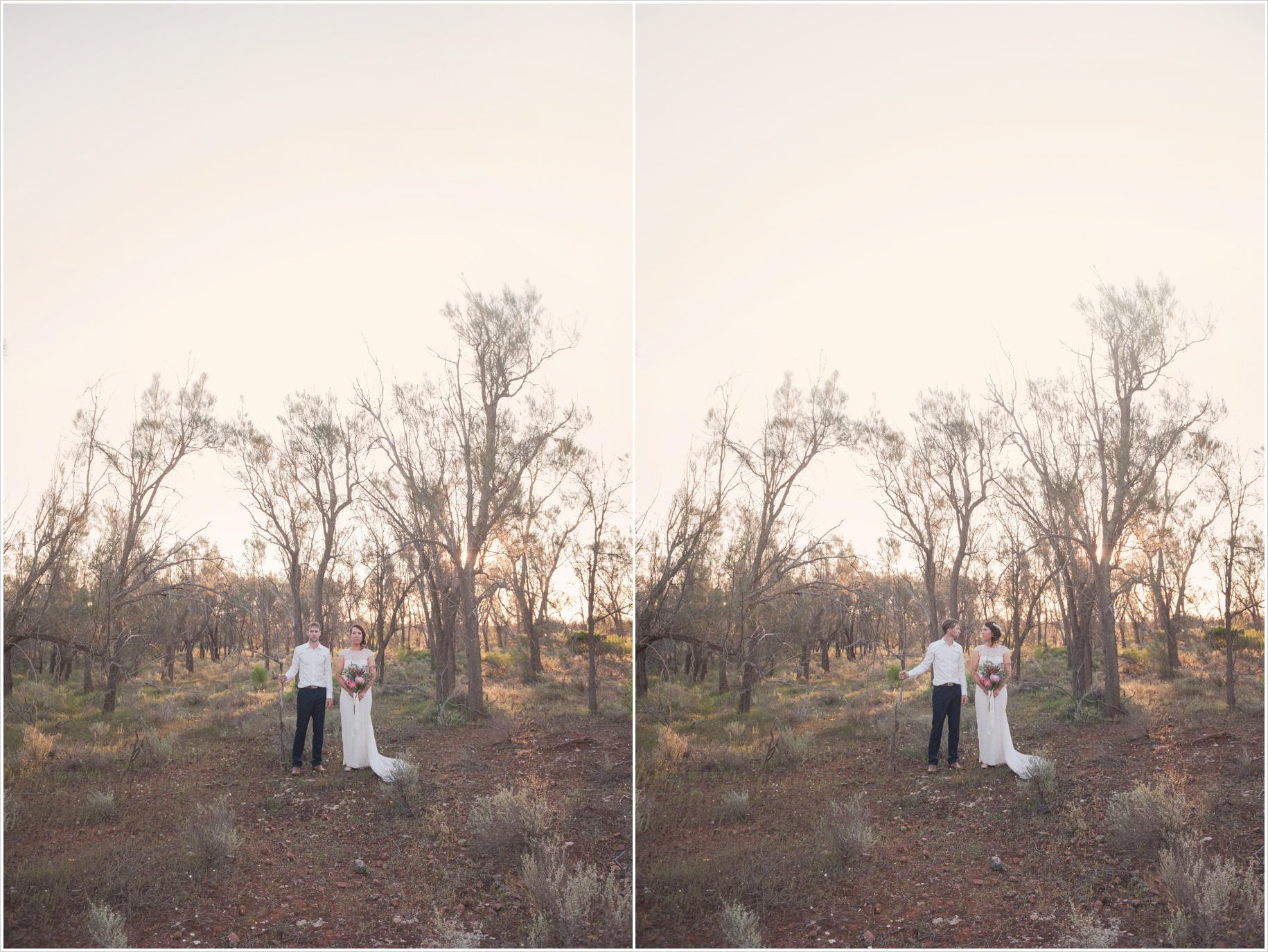 Farm rustic bushland wedding