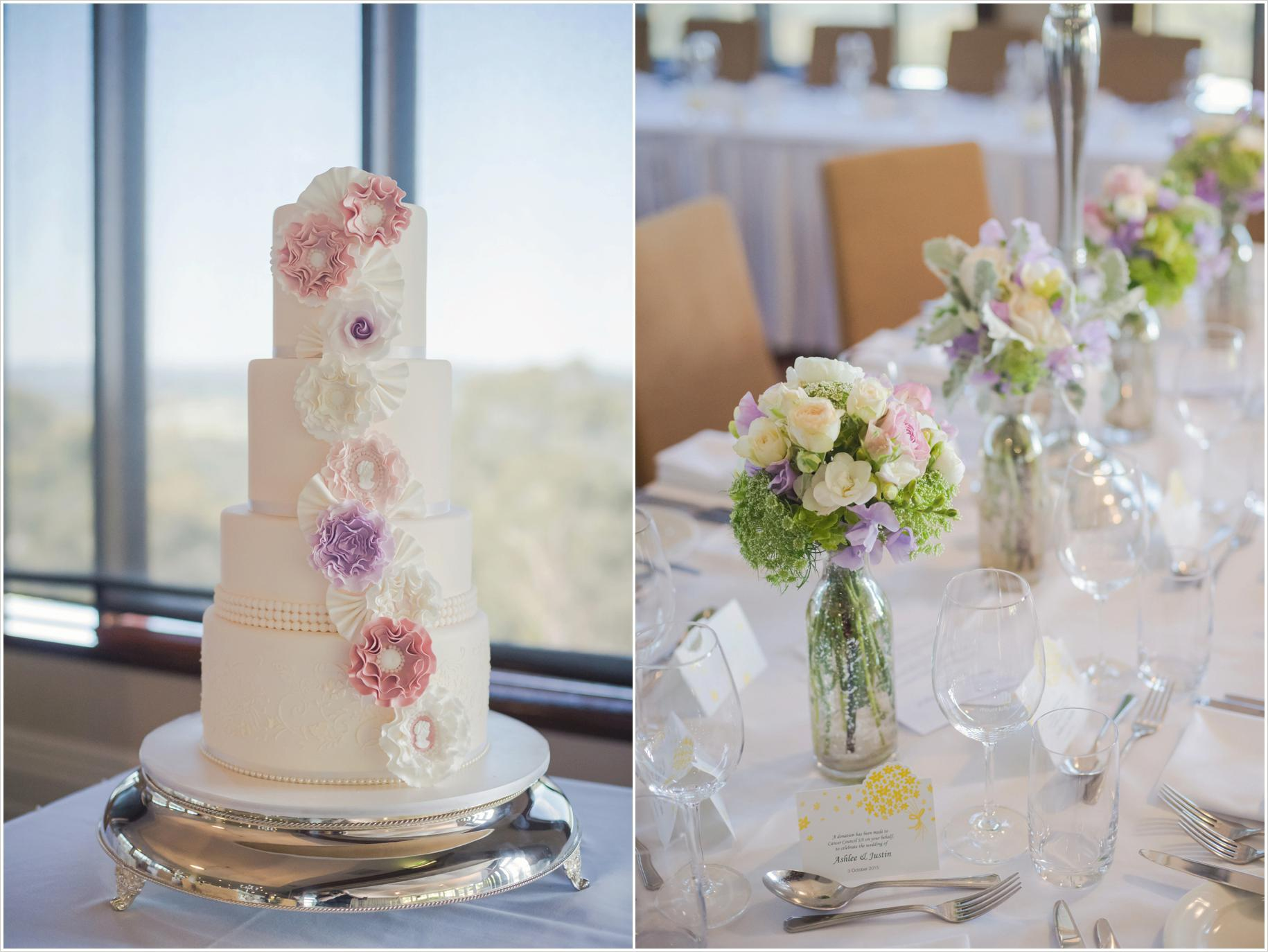 mount lofty house wedding cake