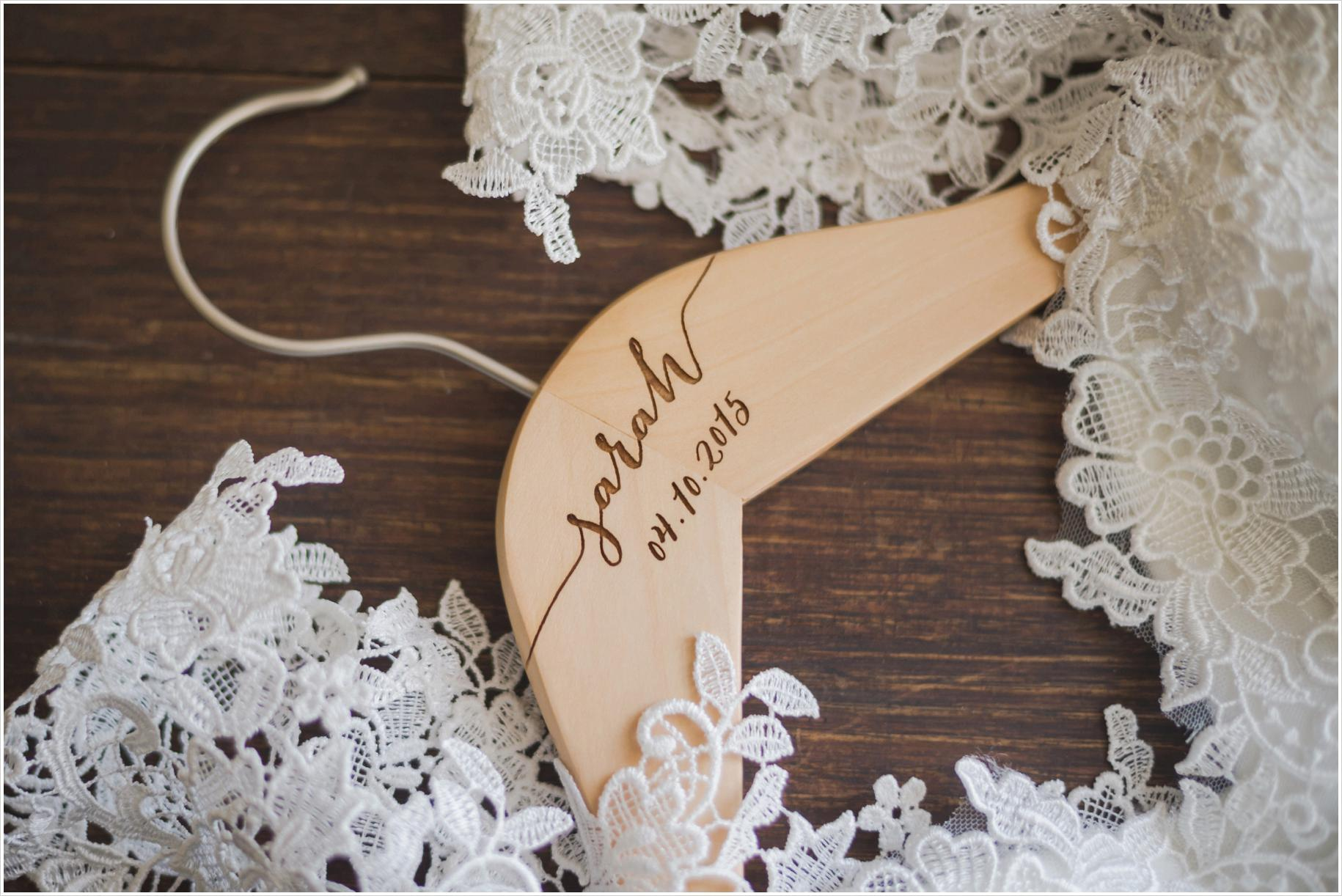 bride custom coat hanger