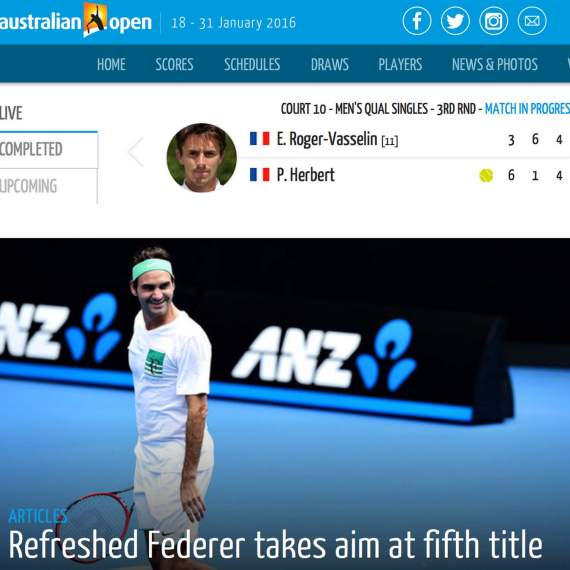 Dream Come True – Watch Roger Federer Live