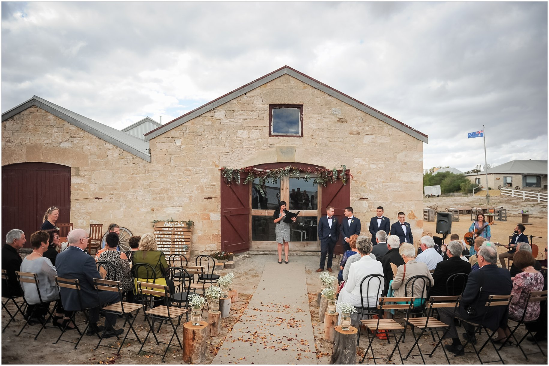 mount dutton bay woolshed wedding