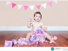 Lacey's First Birthday Cake Smash
